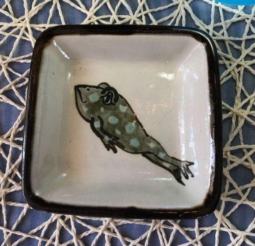 小皿(かえる):宮城三成作