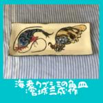 海老クブシミの角皿:宮城三成作